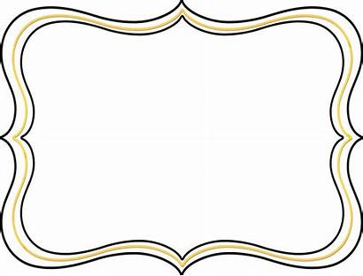 Frame Scroll Border Clip Clipart Pink Shapes