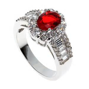 Ruby Platinum Engagement Rings for Women