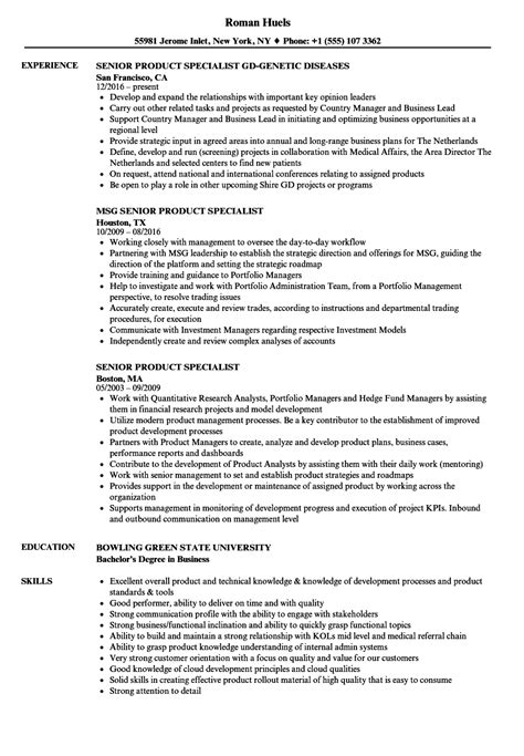 product specialist resume resume ideas