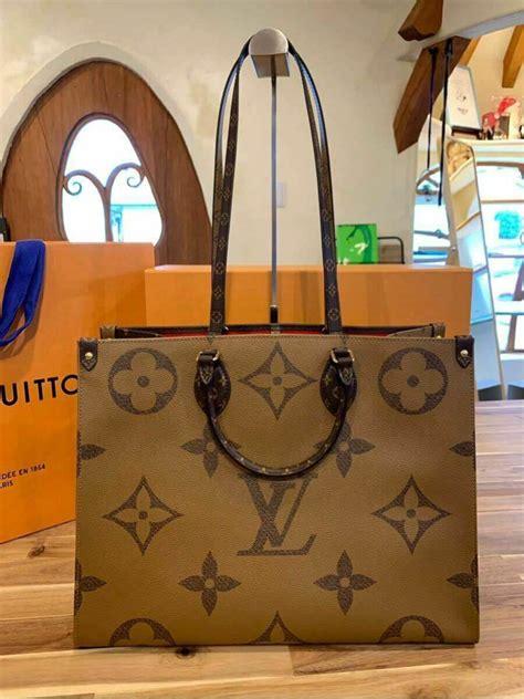 louis vuitton onthego tote giant brown monogram bag      art japan export