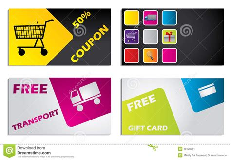 discount card design set stock vector illustration