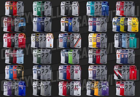All 2019-20 NBA jerseys with unreleased editions greyed ...