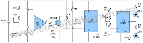 Sound Activated Led Flasher Circuit Diagram