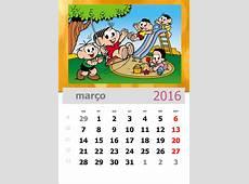Calendário 2016 da Turma da Mônica para imprimir