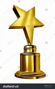 Gold Star Award On Blank Metal Stock Illustration 96636691 ...