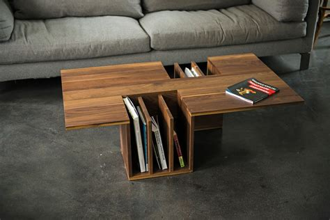 I like this piece first off due to its minimalism. Minimal Coffee Table that features your Books and Magazines. American Black Walnut Wood in a ...