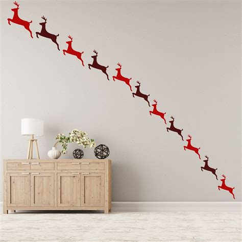 decoration mickey chambre reindeer wall sticker pack festive wall decal