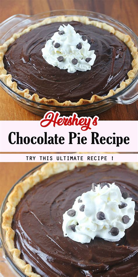 As a matter of fact, my mother used to make this for my sister and me in cuba, when we weren't even so little. Hershey's Chocolate Pie Recipe in 2020   Chocolate pie recipes, Baked dessert recipes, Fun desserts