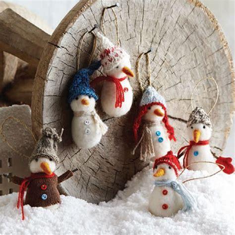 handmade snowman christmas craft tree ornaments