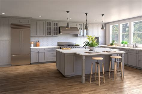 grey shaker cabinets kitchen heather grey shaker ready to assemble kitchen cabinets