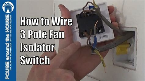 how to wire a 3 pole fan isolator switch extractor fan