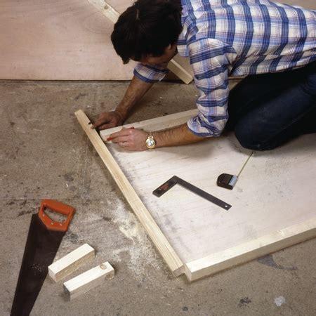 comment fabriquer une porte avec des panneaux de contreplaque