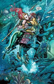 Aquaman and Mera Kiss