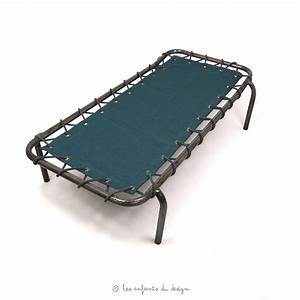 Lit De Camp : lit de camp d 39 appoint bleu canard num ro 74 pour chambre enfant les enfants du design ~ Teatrodelosmanantiales.com Idées de Décoration