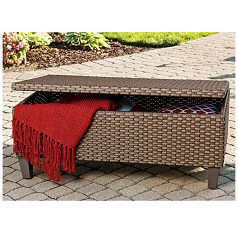 Coffee tables with storage are better than regular coffee tables, wouldn't you agree? View Wilson & Fisher® Tuscany Resin Wicker Storage Trunk ...