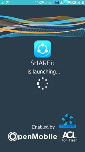 updated shareit now available for samsung z1and z3 go files tizen experts