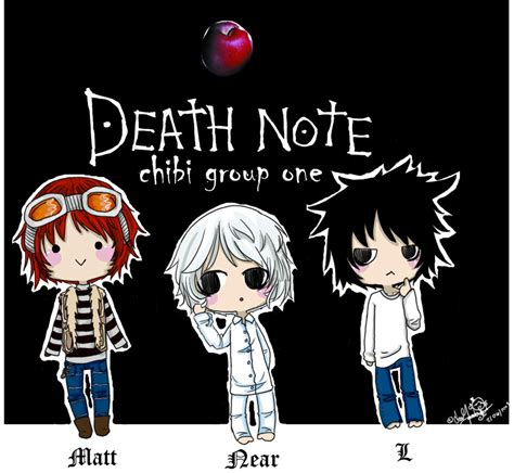 Anime Kiss Death Note Deathnote Chibi Group One By Cyber Kiss On Deviantart