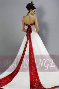 Red and White Wedding Dresses