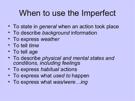 Preterite Vs Imperfectppt