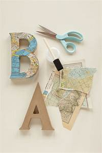 decoupage letters use vintage maps and cut out letters to With decoupage letters