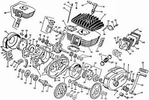 Motorcycle Engine Exploded View