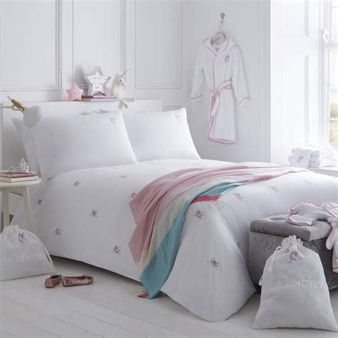 unicorn embroidered bed linen collection by the fine