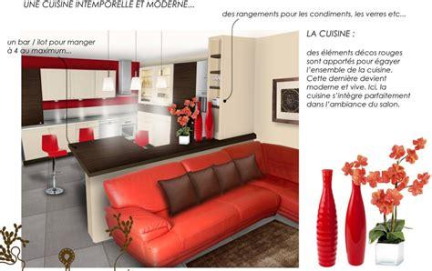 deco salon et cuisine ouverte décoration salon et cuisine ouverte