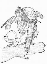 Predator Coloring Mermaid Alien Vs Halloween Printable Drawing Ancient K5worksheets sketch template