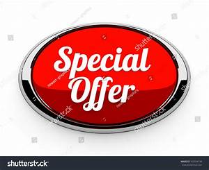 Big Red Special Offer Button Metallic Stock Illustration ...