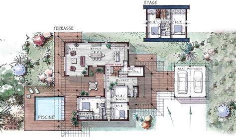 maison ossature bois 224 233 tage 184 m 178 5 chambres terrasse villas et recherche