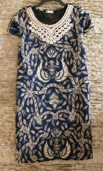 dress batik lawasan klambi batik pinterest blue