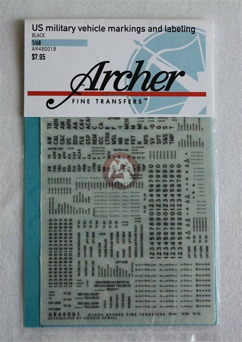 archer   military vehicle markings labeling