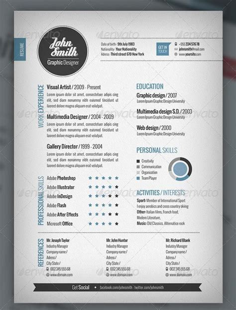 site of eye catching resume templates free resume templates curriculum creativo plantilla
