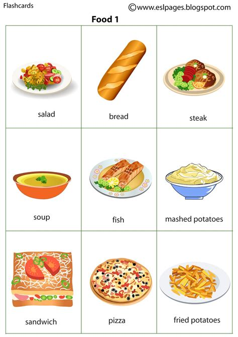 cuisine flash risultati immagini per food flashcards finger puppets