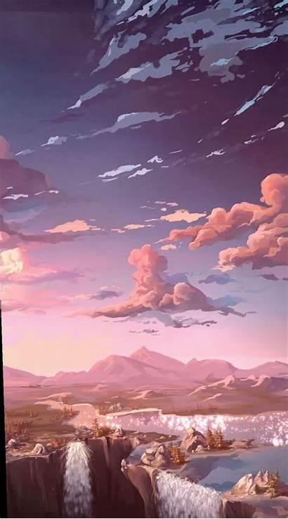 Aesthetic Ipad Landscape Anime Pastel Scenery Iphone