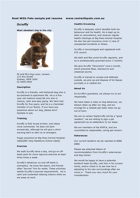 compose a pet resume pet resumes how they can help your veterinary clients rent with pets post