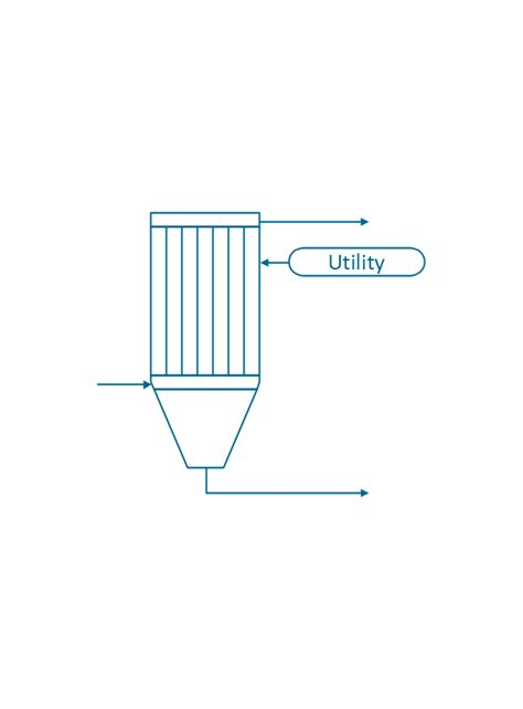 Filter Diagram by Chemical Engineering Vector Stencils Library
