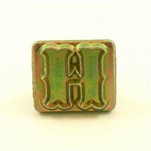 20mm decorative letter h embossing stamp artisanleather With single letter embosser
