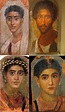four portrait paintings from the 2nd century AD showing ...