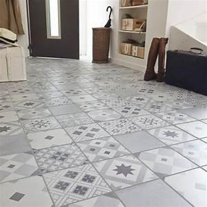entree buanderie wc sdb carrelage sol et mur gris With carrelage sol et mur