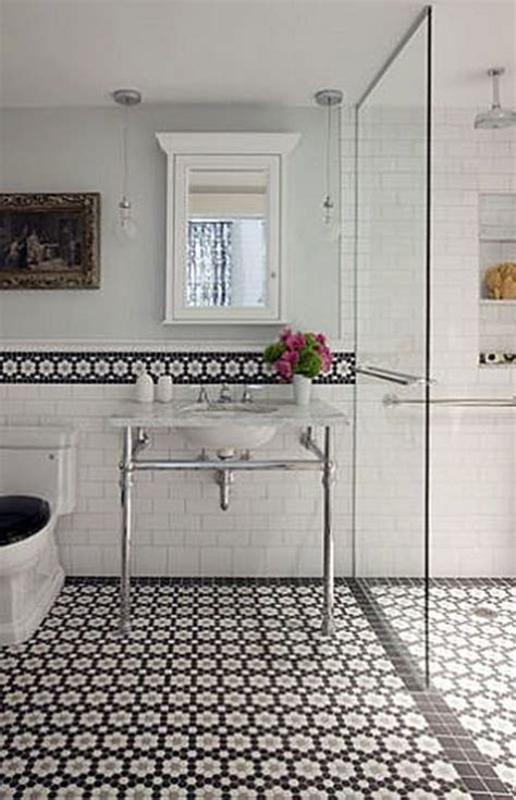 Bathroom Tile Ideas Black And White 37 Black And White Hexagon Bathroom Floor Tile Ideas And Pictures