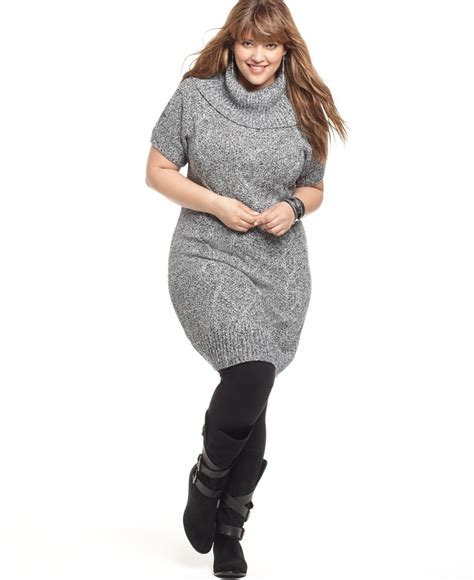 plus size sweaters how to wear a plus size sweater dress careyfashion com