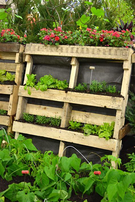 vertical pallet garden use trash to make vertical garden plant tags even