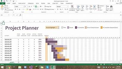 Excel Gantt Chart Project Conditional Formatting Template