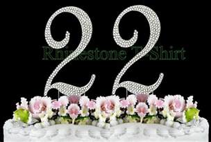 rhinestone number cake toppers large rhinestone number 22 cake topper 22th birthday