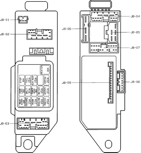 Fuse Box Mazda 626 2000 by 1999 Mazda Miata Fuse Box Diagram Wiring Diagrams