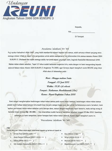 contoh undangan reuni kangediberbagi