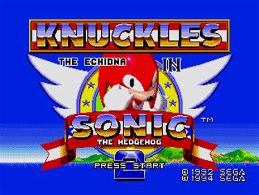 sonic knuckles sonic  hedgehog  details