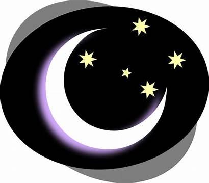 Night Clipart Moon Clip Sky Dark Vector