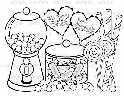 Printable Valentine Sweet Personalized Coloring Pdf Colorare